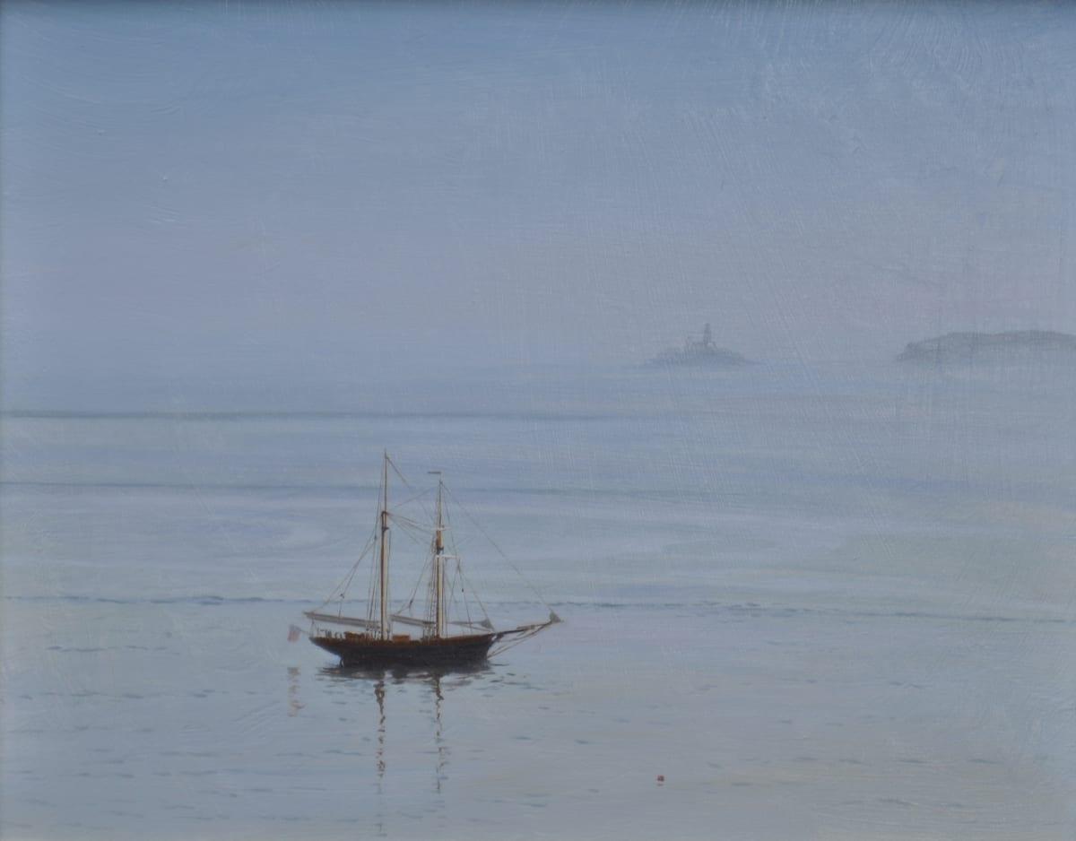 Carl Laubin Topsail schooner, St. Ives 1 Oil on board 24 x 30 cm