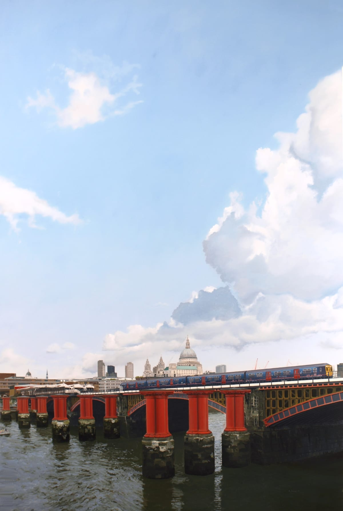 Francisco Rangel Train Oil on Canvas 195 x 130 cm