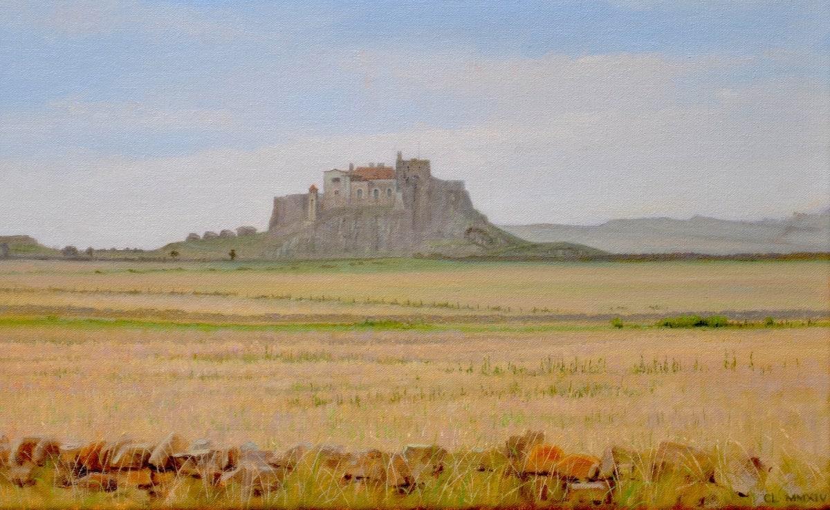 Carl Laubin Lindisfarne Castle 1 Oil on canvas 25 x 41 cm