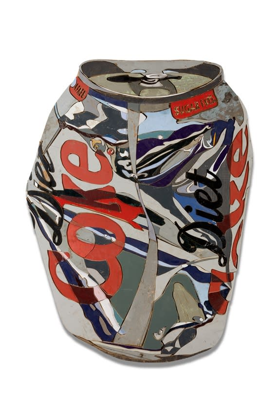 Diederick Kraaijeveld Diet Coke Colored salvaged wood 119 x 88 cm