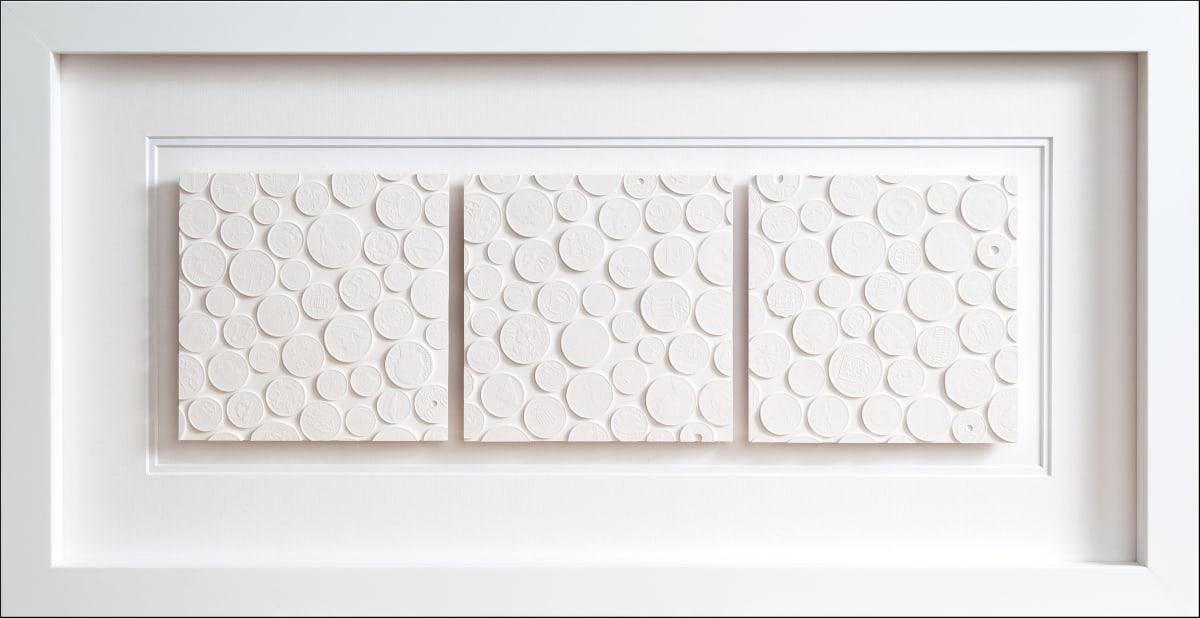 Tom Martin Triple Tile Plaster behind perspex Edition of 5 34.5 x 66.6 cm (Framed)