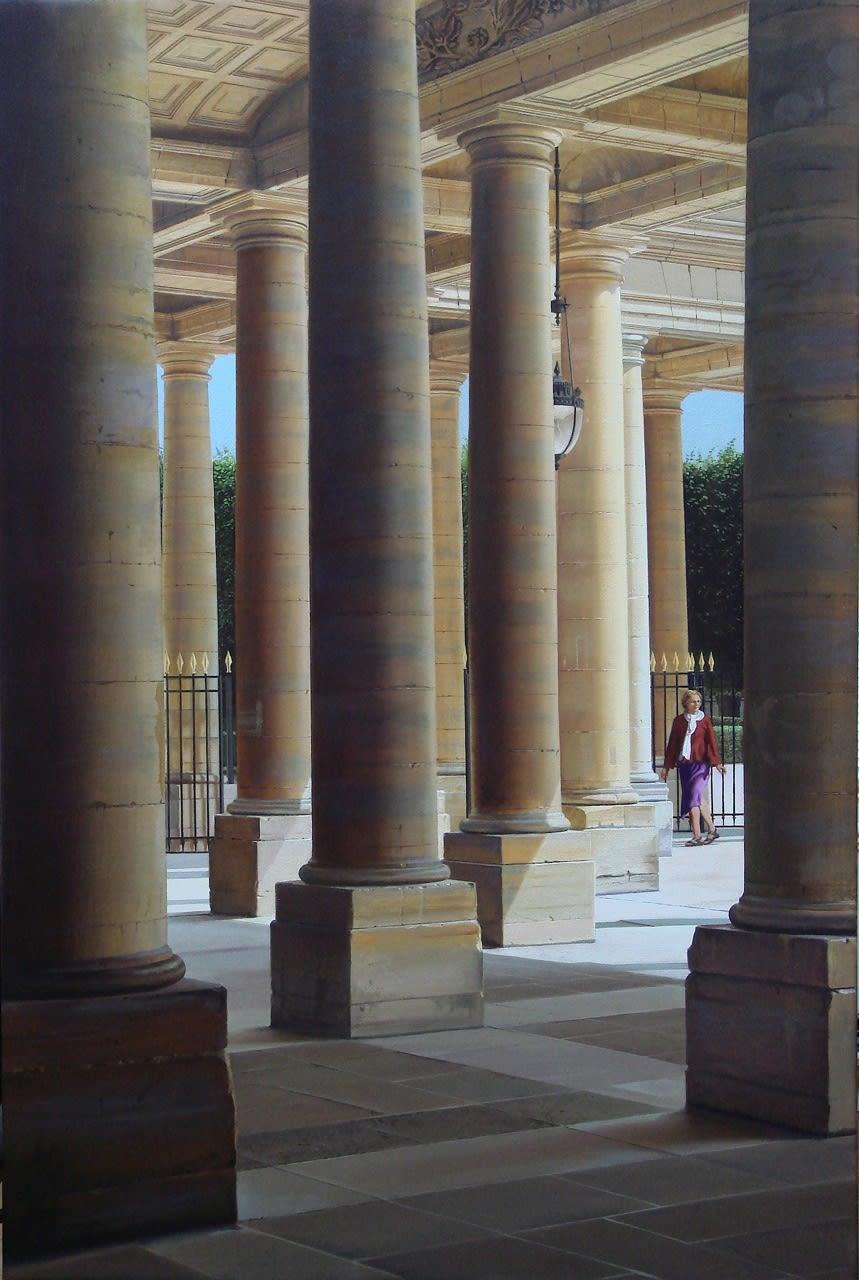 Carl Laubin Palais Royal oil on canvas 106 x 71 cm