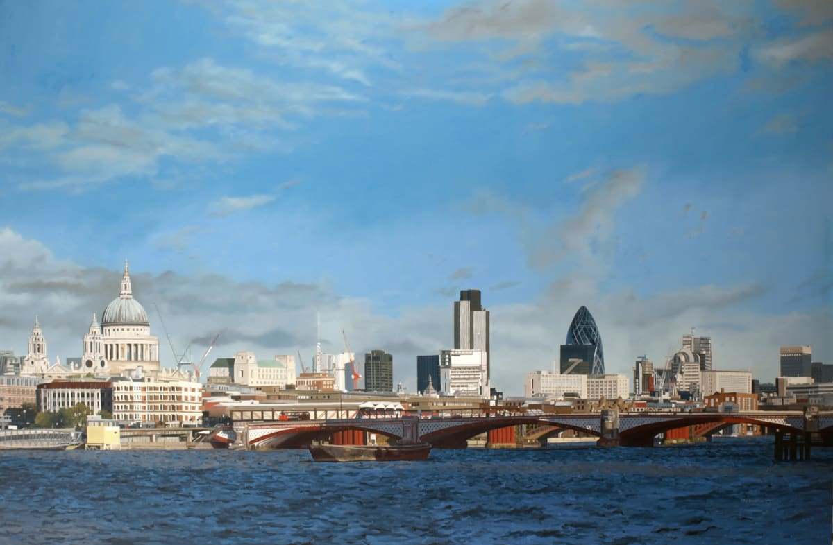 Francisco Rangel London oil on canvas 130 x 195 cm