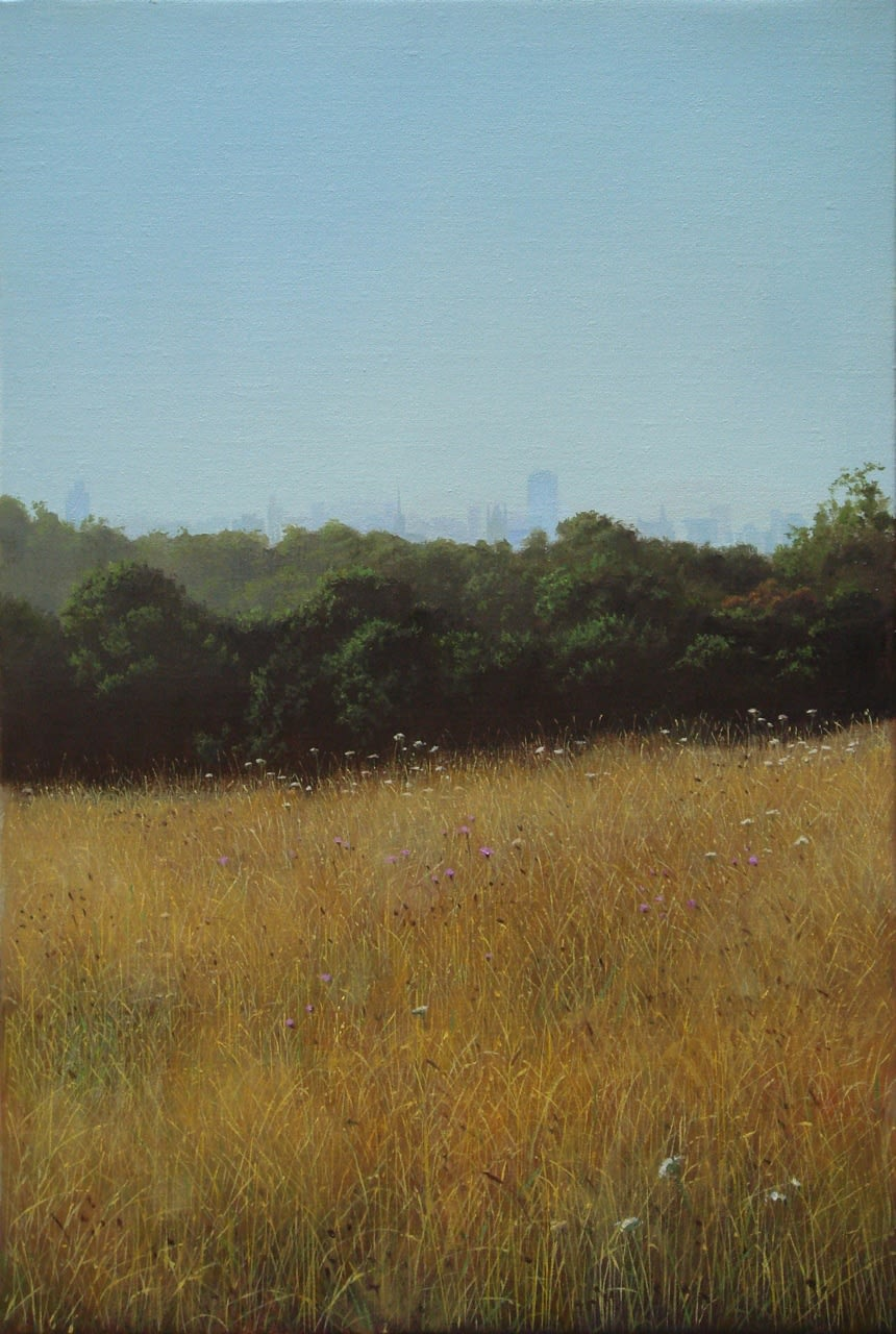 Carl Laubin On Hampstead Heath oil on canvas 46 x 31 cm