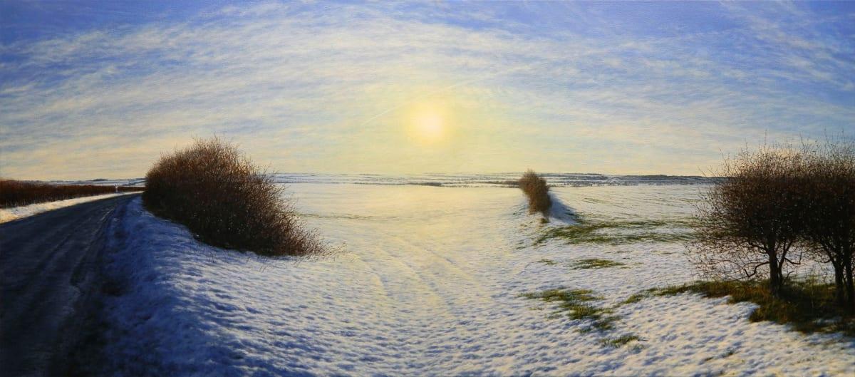Steve Whitehead Wold Midwinter Acrylic on canvas 61 x 137 cm