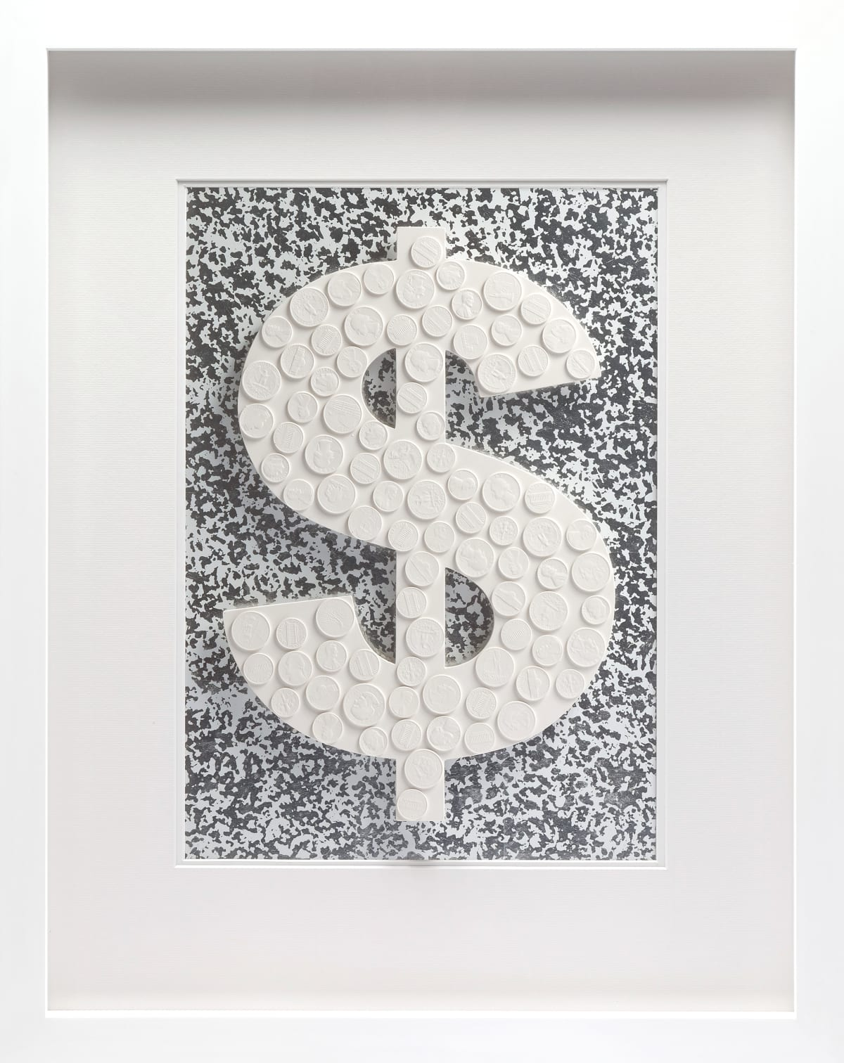 Tom Martin Show Me America Plaster and silver leaf behind perspex 65 x 51.5 cm Edition of 5