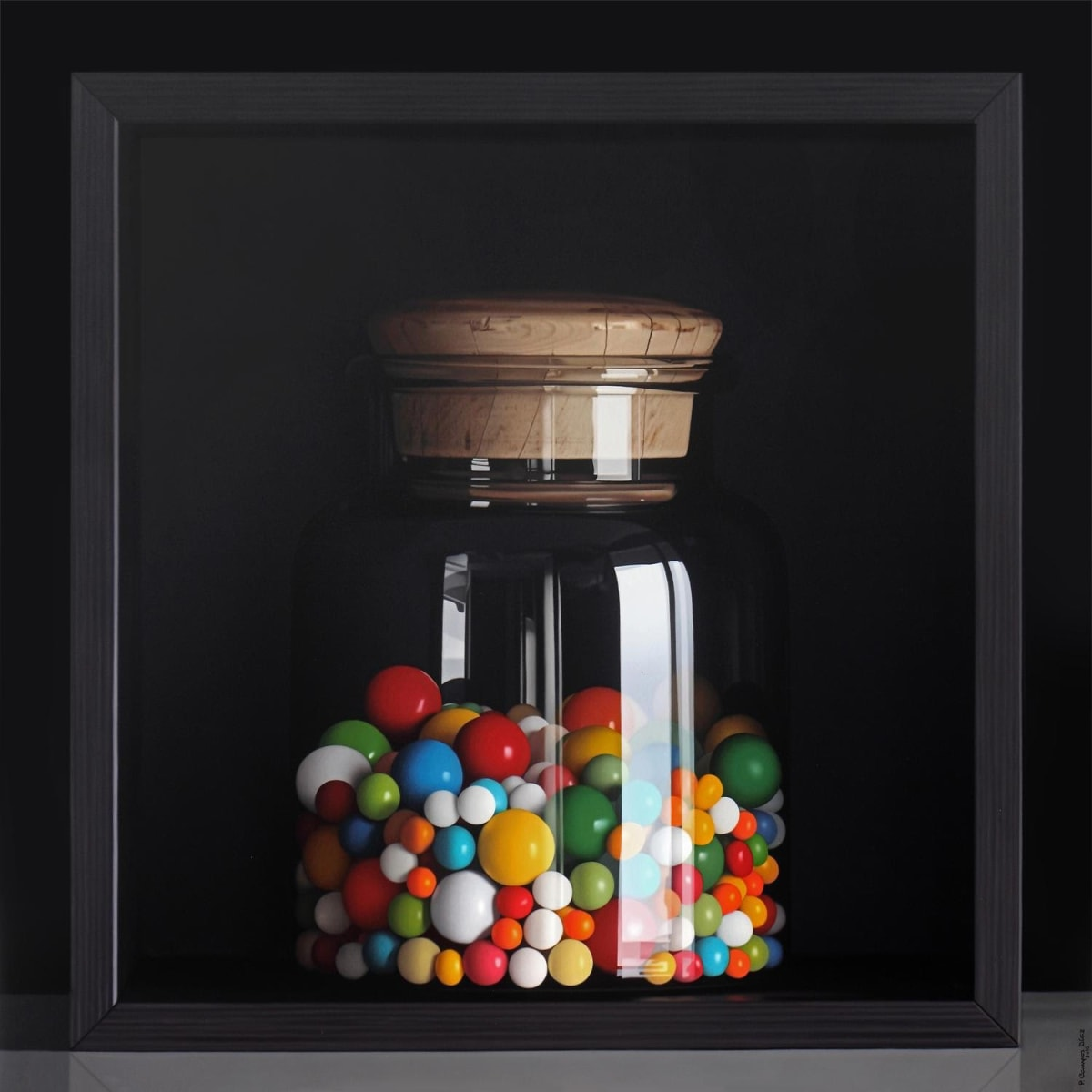 Pedro Campos Sweet Candies Oil on canvas 150 x 150 cm
