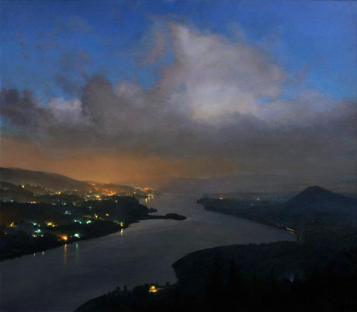 "Stephen Fox Upriver Rising Oil on canvas 43 x 49"" - 2013 109 x 124.5 cm"