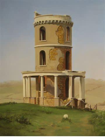 Carl Laubin Clavell Tower oil on canvas 40 x 30 cm