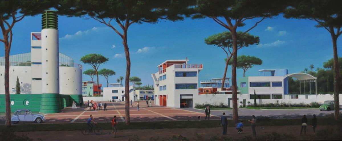 Carl Laubin Machines For Living II, 2015 Oil on canvas 51 x 122 cm