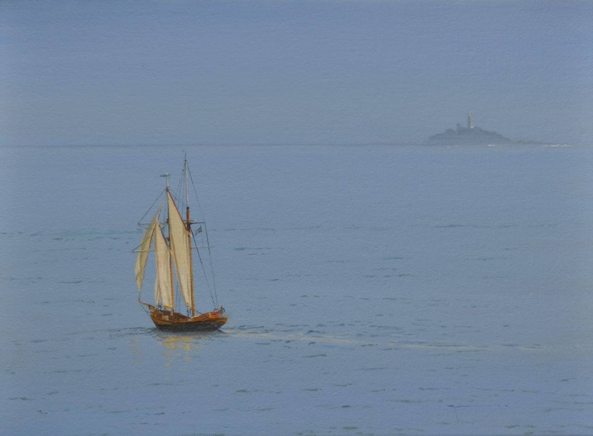 Carl Laubin Topsail schooner, St. Ives 2 Oil on canvas 23 x 30 cm