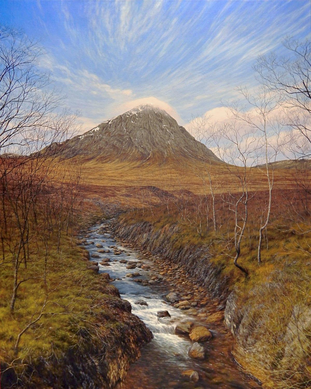 Steve Whitehead Etive Moor Acrylic on canvas 102 x 81 cm