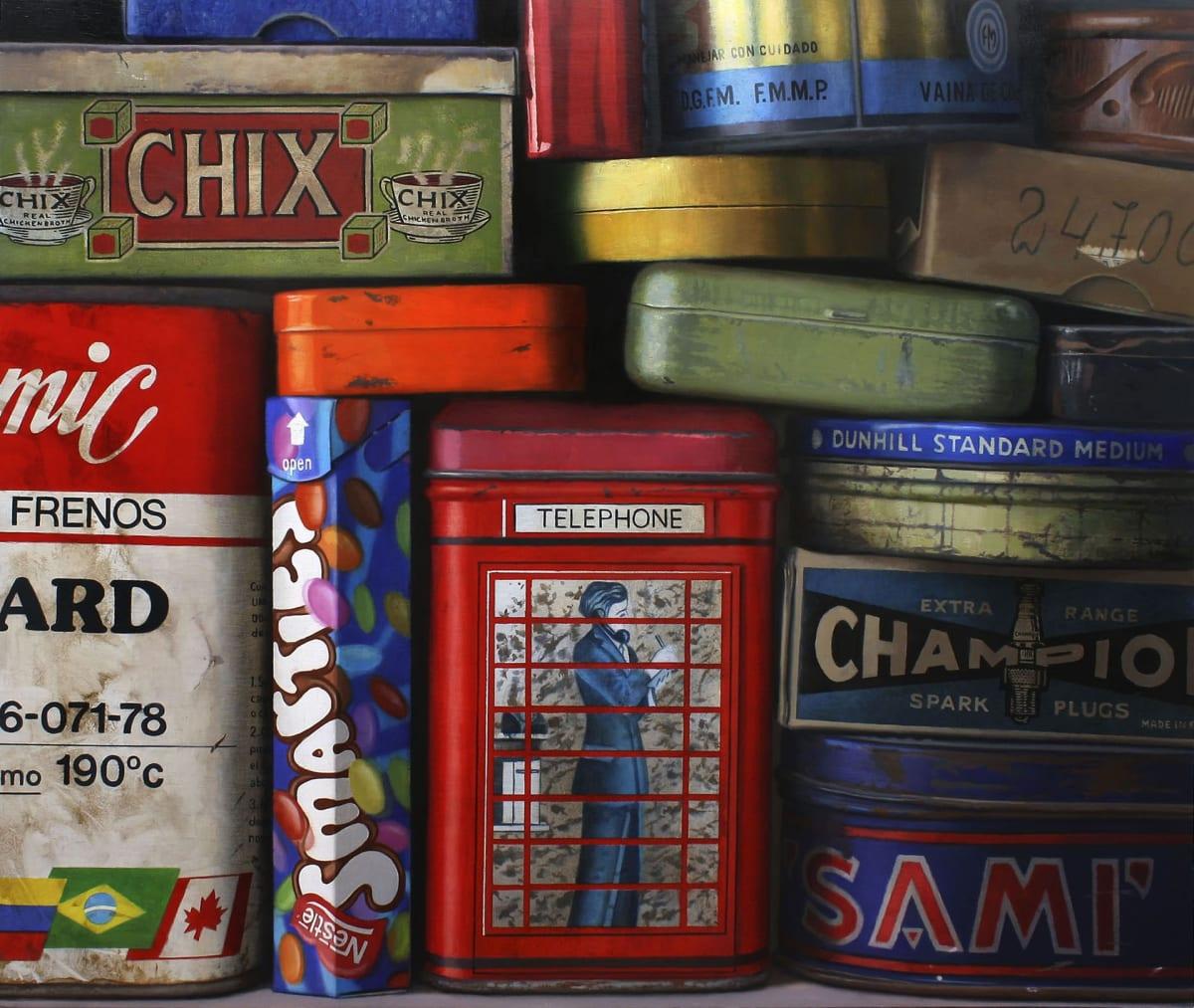 Javier Banegas Busy Oil on panel 80 x 94 cm