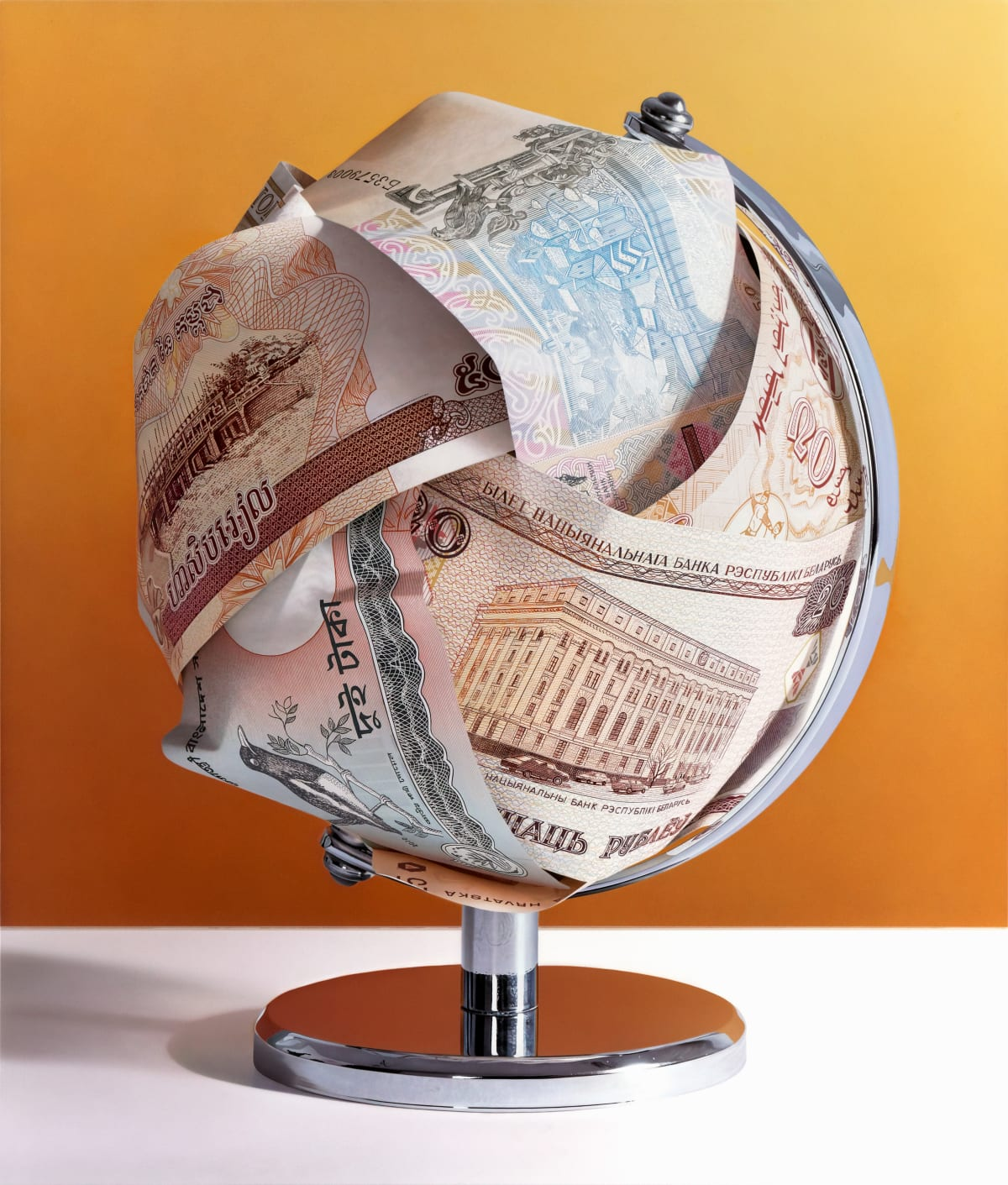 Tom Martin Makes the World Go Round VI Acrylic on aluminium composite panel 85 x 100 cm