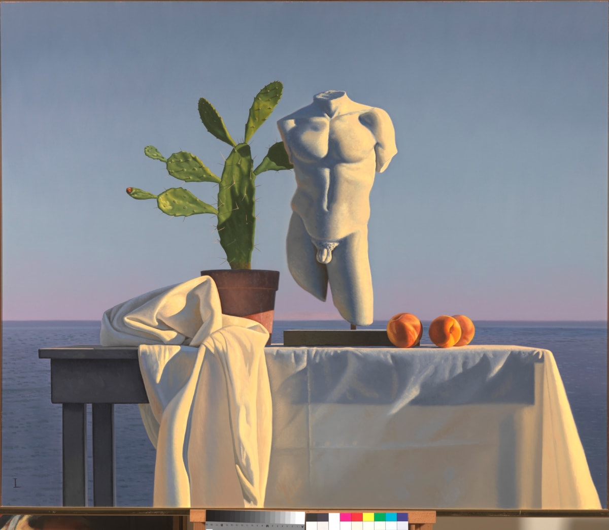 David Ligare STILL LIFE WITH TORSO AND CACTUS oil on canvas 102 x 122 cm