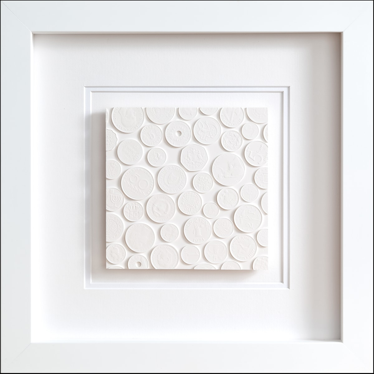 Tom Martin Single Tile Plaster behind perspex 35 x 35 cm (Framed) Edition of 10