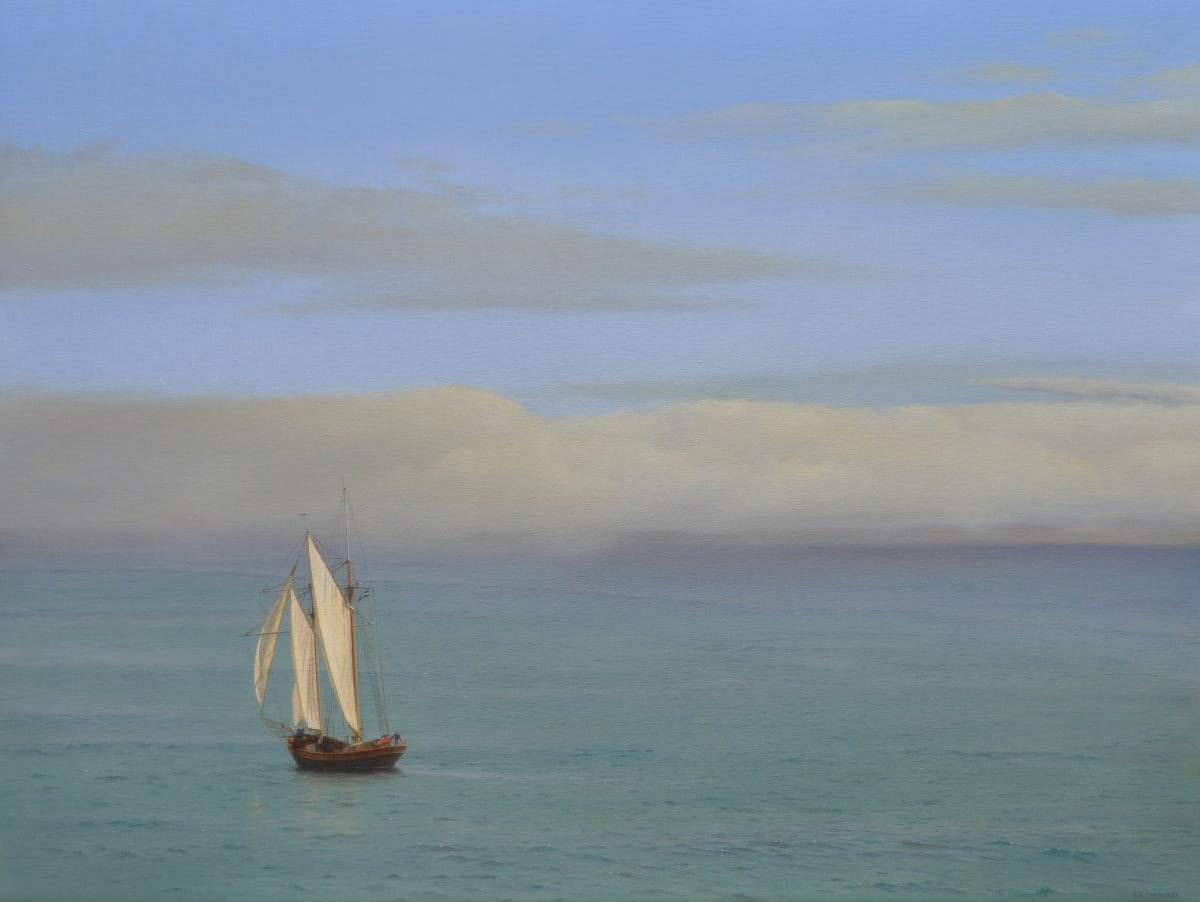 Carl Laubin Topsail schooner, St. Ives 3 Oil on canvas 76 x 102 cm