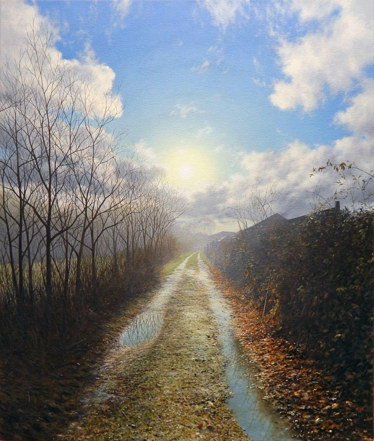 Steve Whitehead Winter Lane Acrylic on canvas 66 x 56 cm