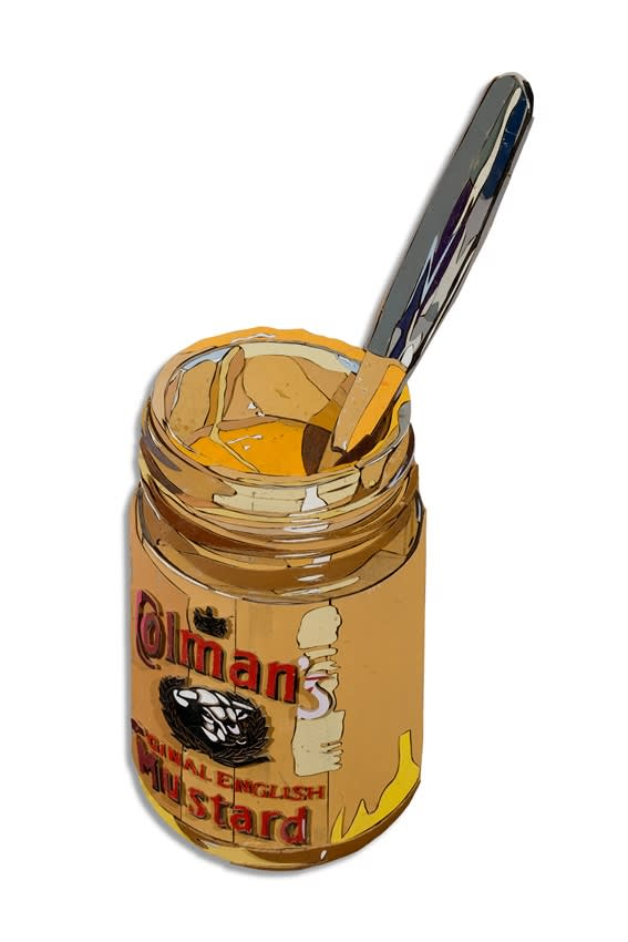 Diederick Kraaijeveld Colman's Mustard Colored salvaged wood 147 x 53 cm