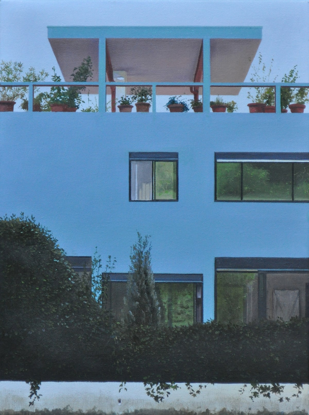 carl laubin Le Toit-Jardin, 2014 Oil on canvas 41 x 30 cm