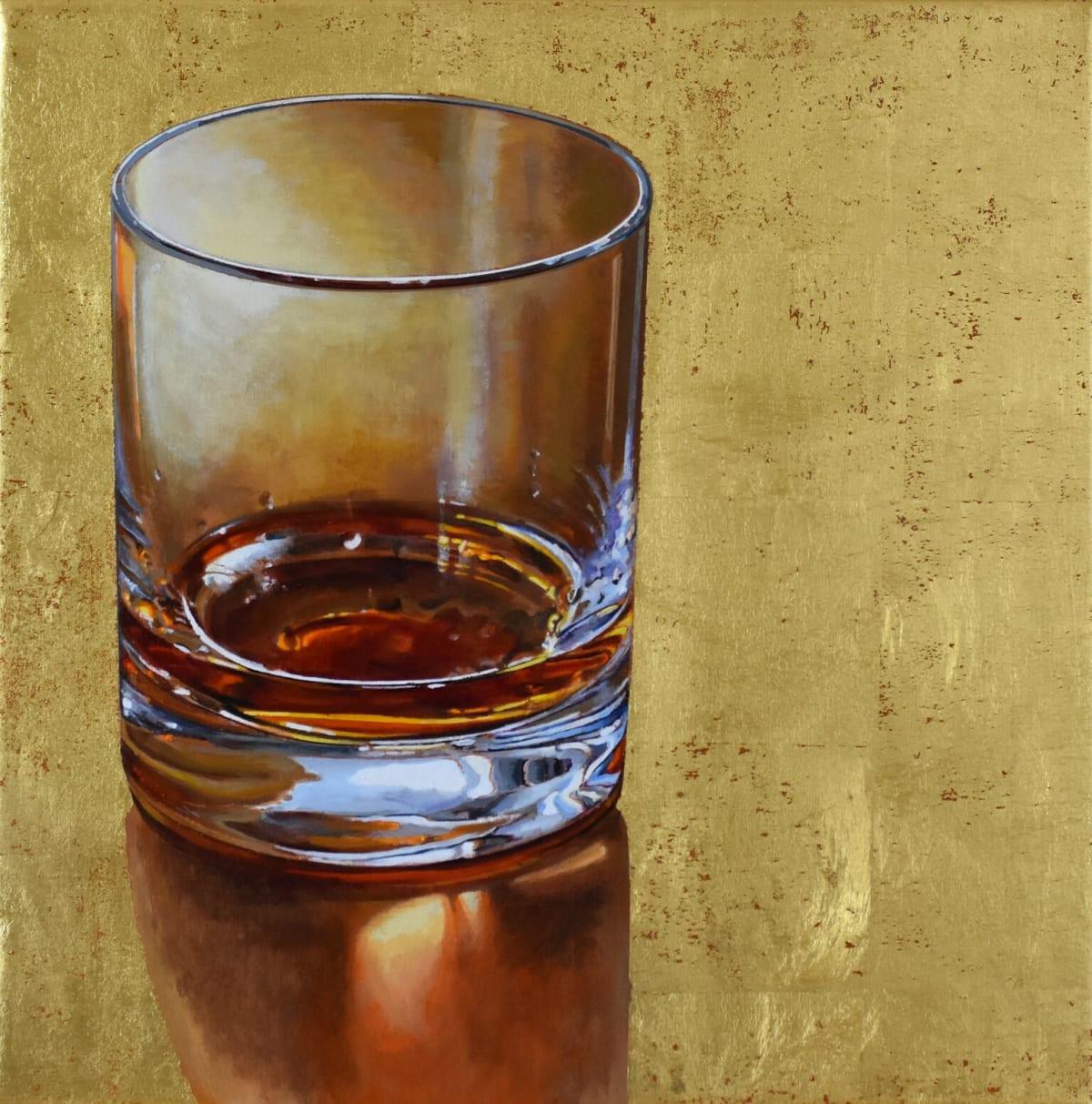 Cynthia Poole Spirits 41 x 41 cm Acrylic on canvas with gold leaf