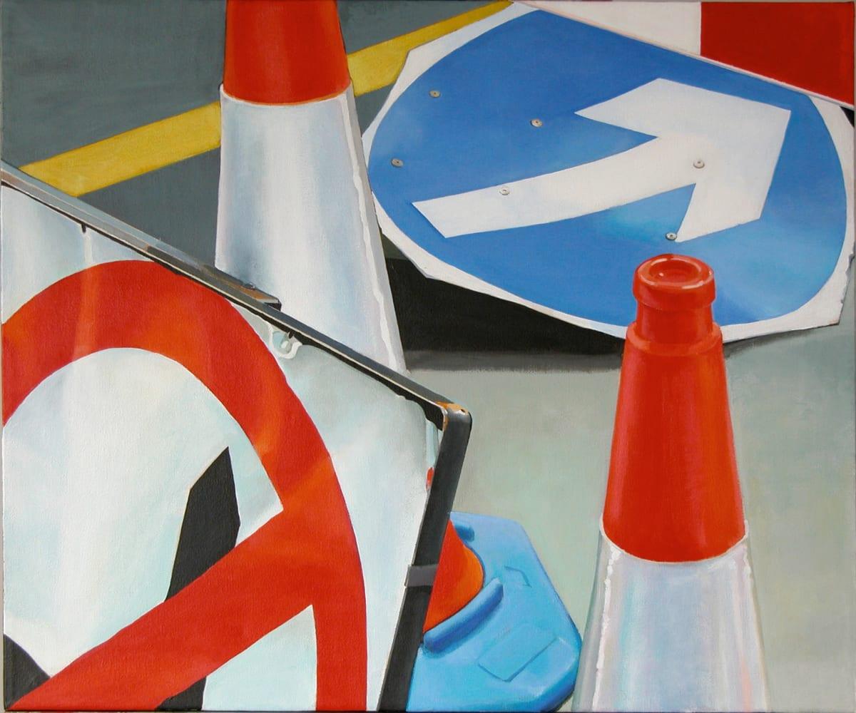Cynthia Poole Roadworks I Acrylic on canvas 51 x 61 cm