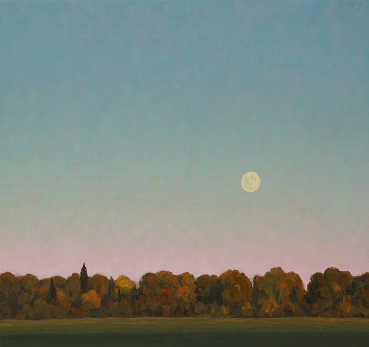 Dale Livezey, Moonrise in the Meadow