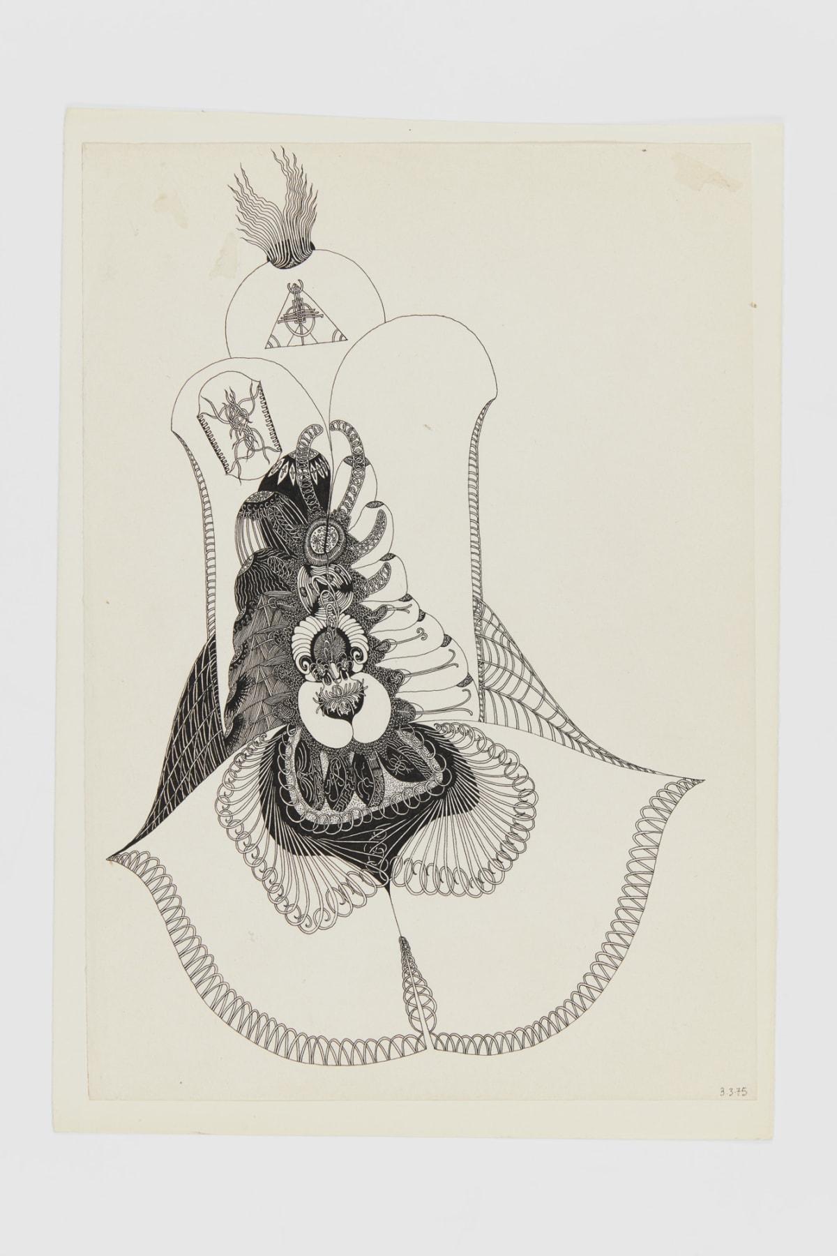 Ann CHURCHILL 3.3.75 (Daily drawings), 1975 Pen on paper 29.7 x 20.9 cm