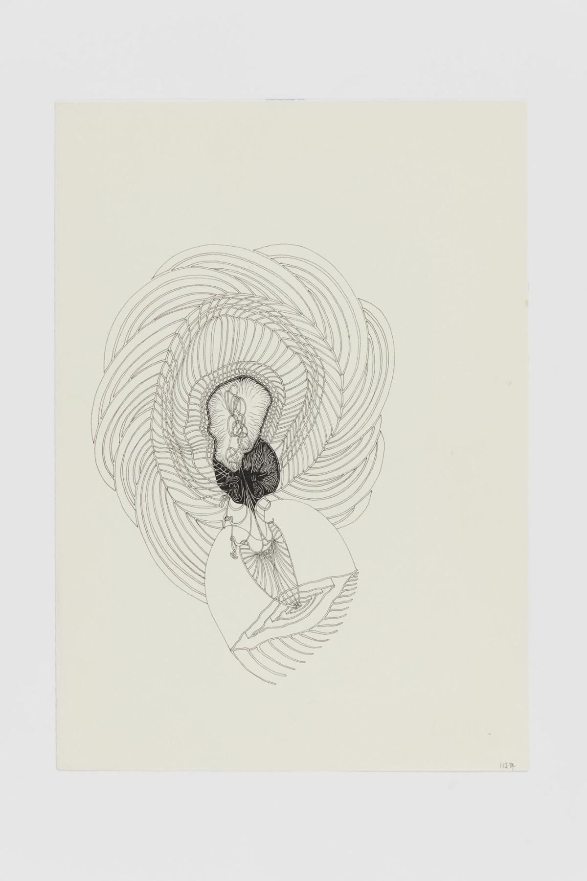 Ann CHURCHILL 1.12.74 (Daily drawings), 1974/75 Pen on paper 29.7 x 20.9 cm