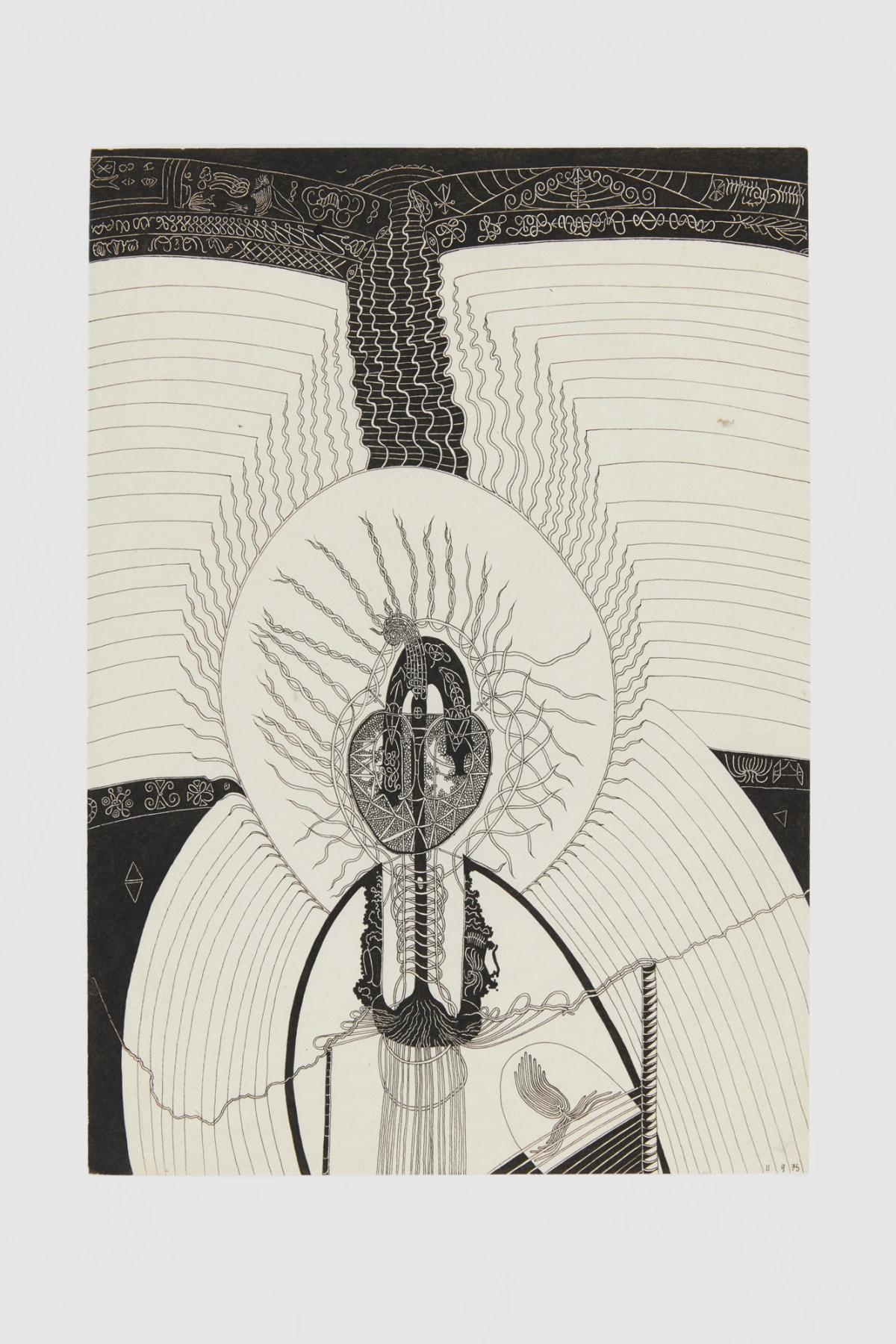 Ann CHURCHILL 11.9.75 (Daily drawings), 1975 Pen on paper 29.7 x 20.9 cm