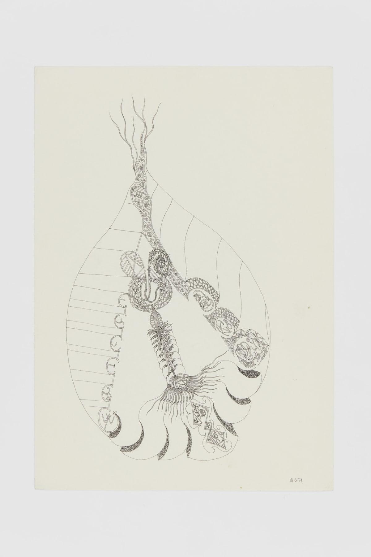 Ann CHURCHILL 21.3.74 (Daily drawings), 1974 Pen on paper 29.7 x 20.9 cm