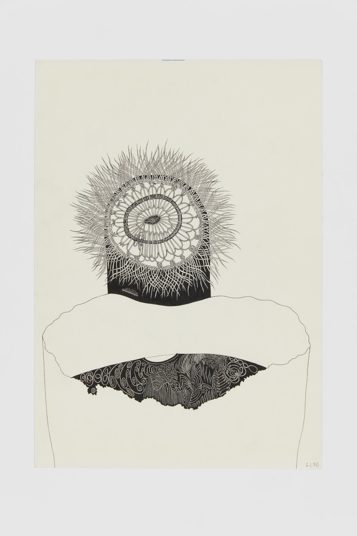 Ann CHURCHILL 6.1.75 (Daily drawings), 1975 Pen on paper 29.7 x 20.9 cm