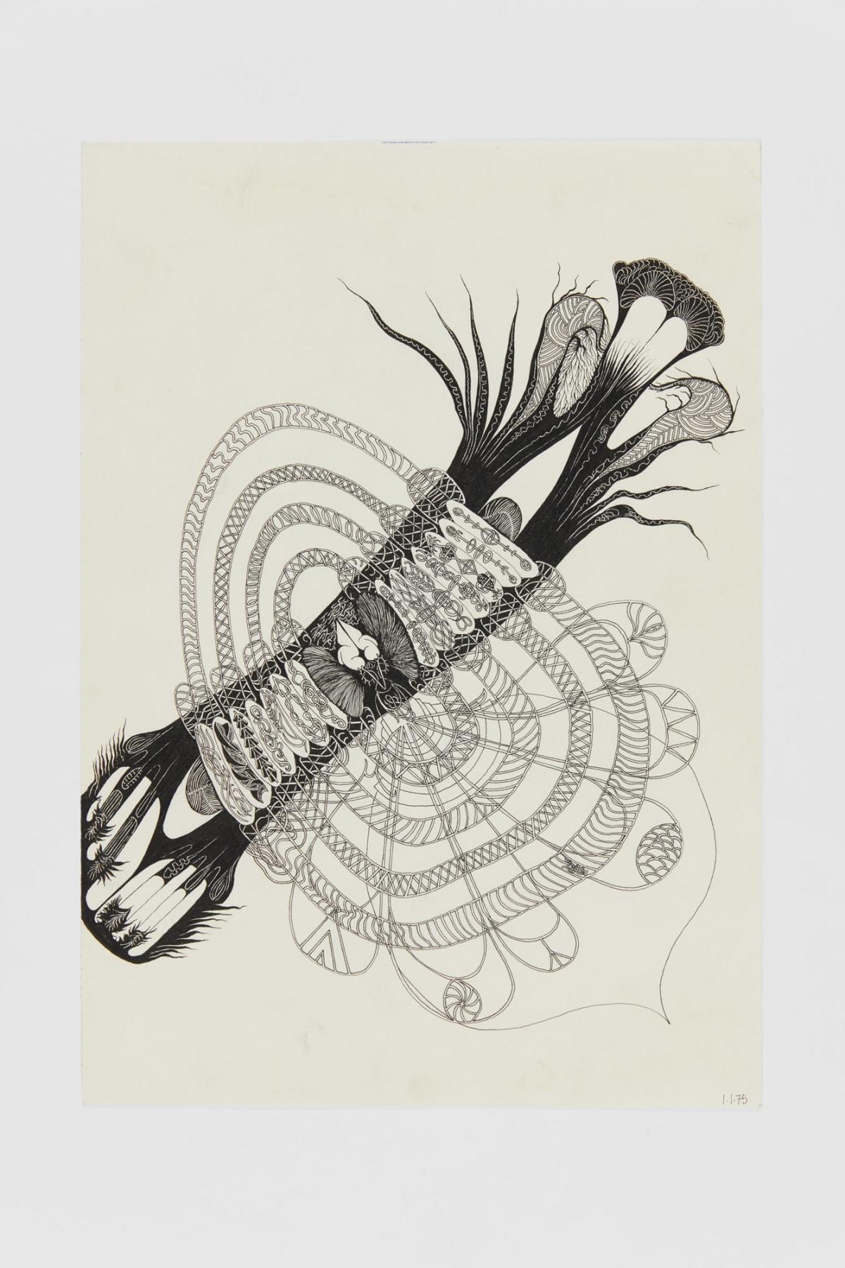 Ann CHURCHILL 1.1.75 (Daily drawings), 1975 Pen on paper 29.7 x 20.9 cm
