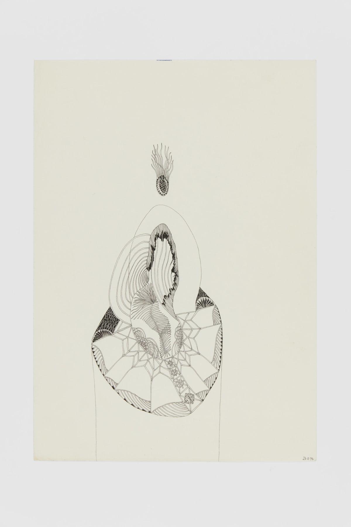 Ann CHURCHILL 28.10.74 (Daily drawings), 1974 Pen on paper 29.7 x 20.9 cm