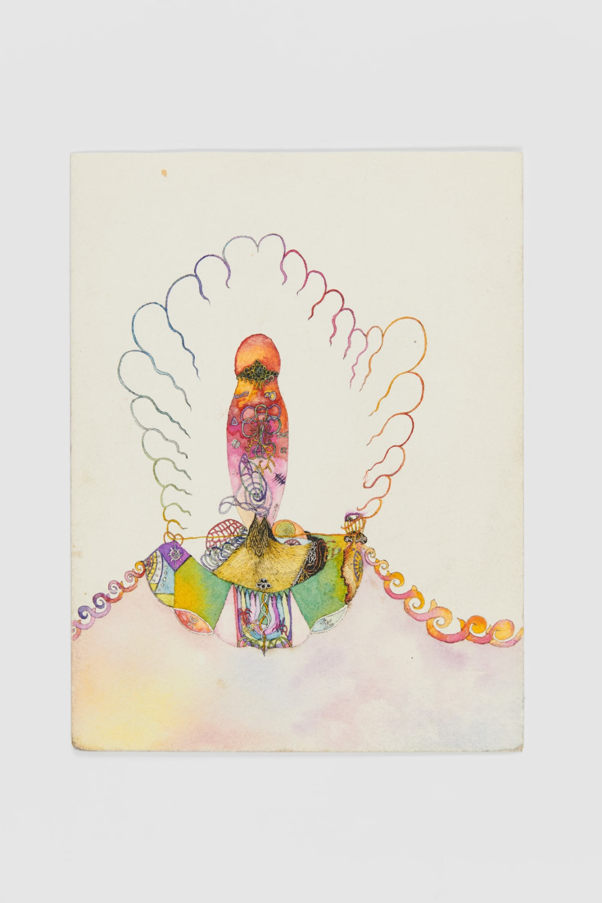Ann CHURCHILL Coloured drawing (emptying the chalice), 1976 Ink on paper 23.6 x 17.8 cm