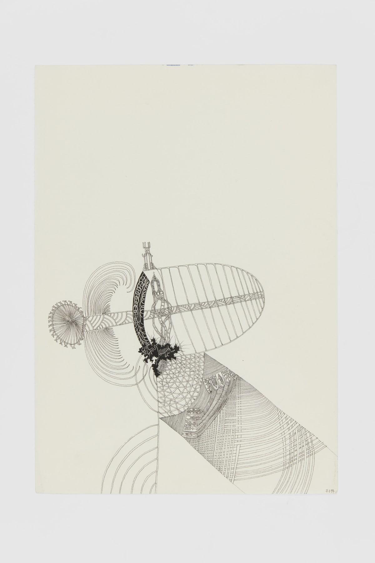 Ann CHURCHILL 7.11.74 (Daily drawings), 1974 Pen on paper 29.7 x 20.9 cm