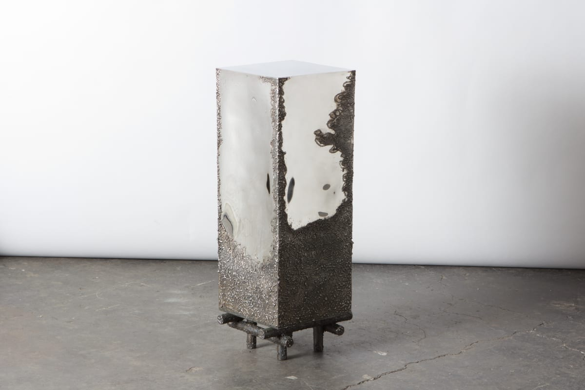 Michael Gittings When We're Gone Plinth, 2019 Stainless Steel 76 x 25 x 25 cm Unique