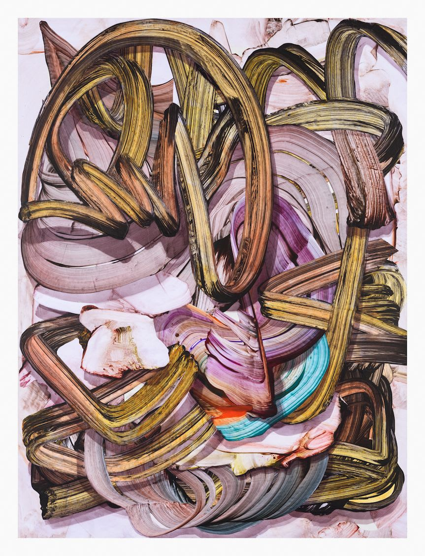 Gregory Hodge Loop, 2015 acrylic on paper mounted on aluminium 122 x 91.5 (framed)