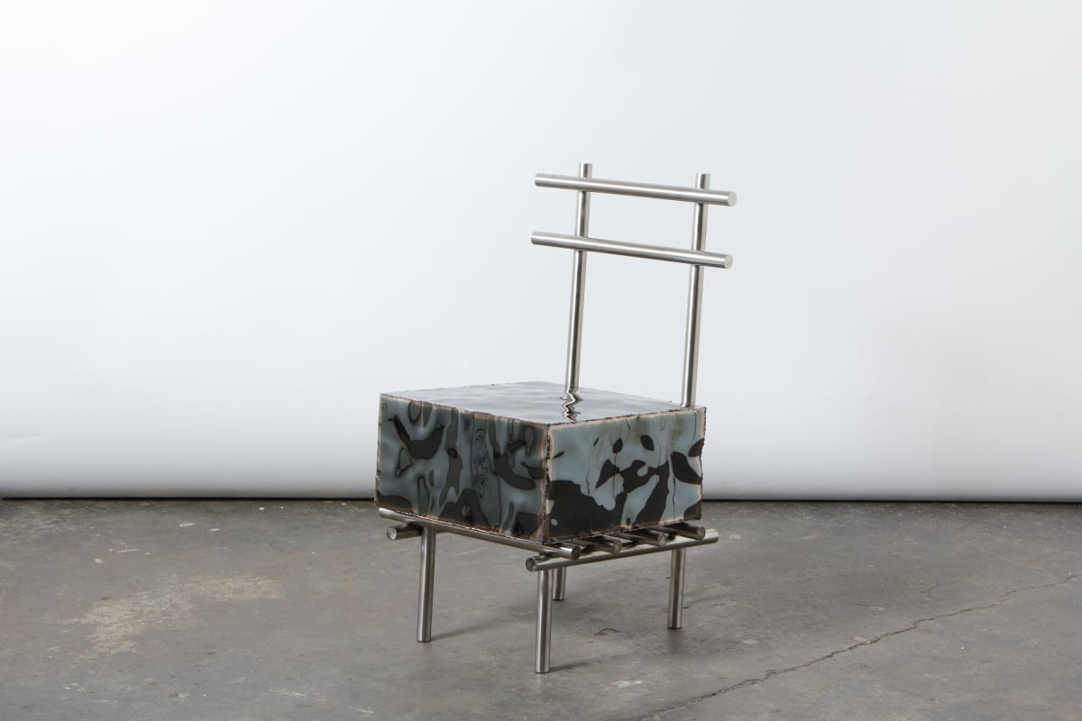 Michael Gittings Stocky Chair, 2019 Stainless Steel 80 x 45 x 50 cm Edition of 4