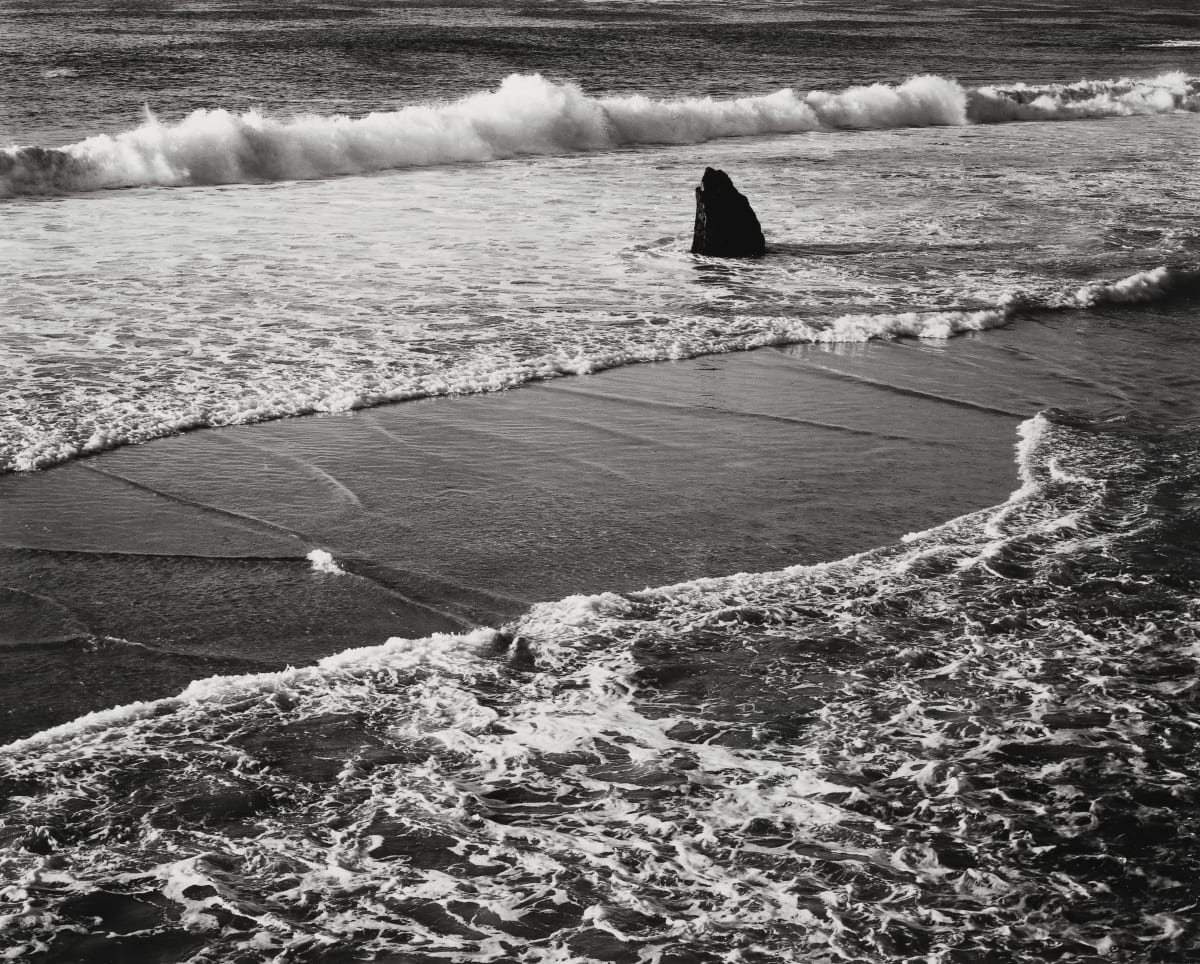 Morley Baer, Double Surf, Garrapata Beach, 1966