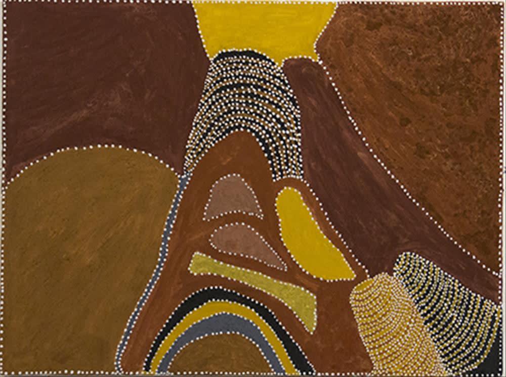 Patrick Mung Mung NYIDBARRIYA - NYAWANA natural earth pigment on canvas 120 x 90 cm