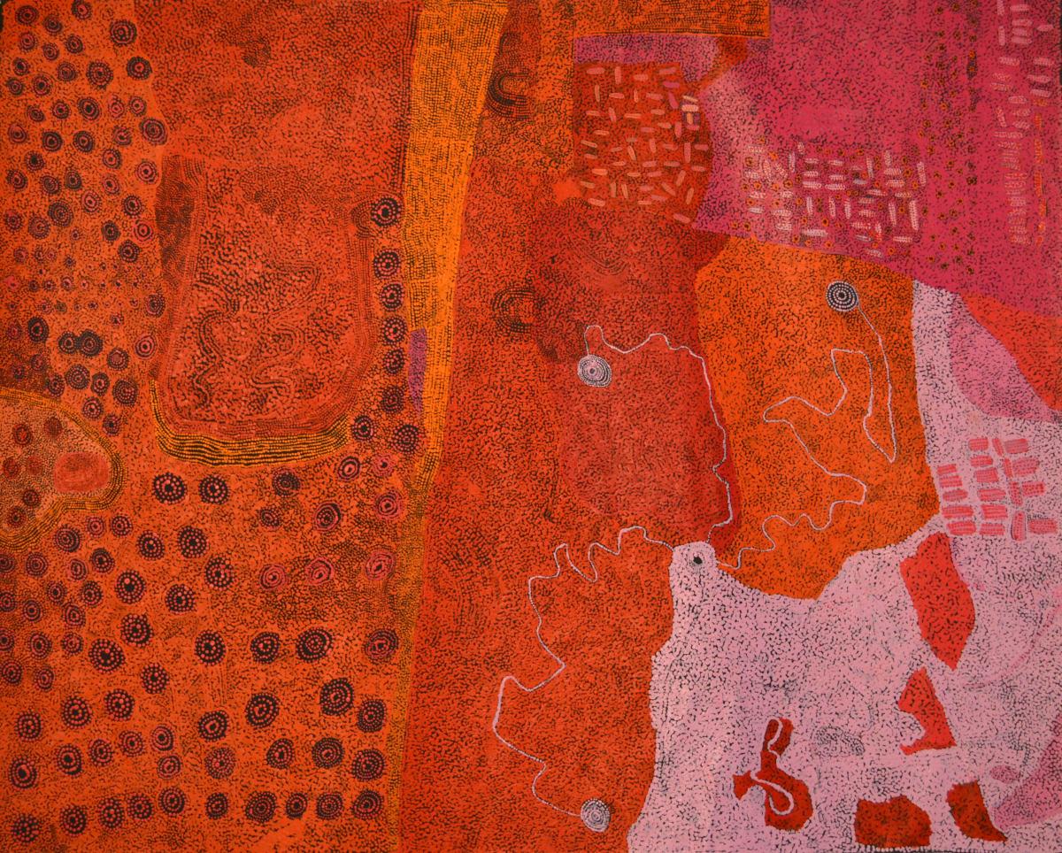 Ginger Wikilyiri ilpin 2015 acrylic on canvas 151 x 120 cm