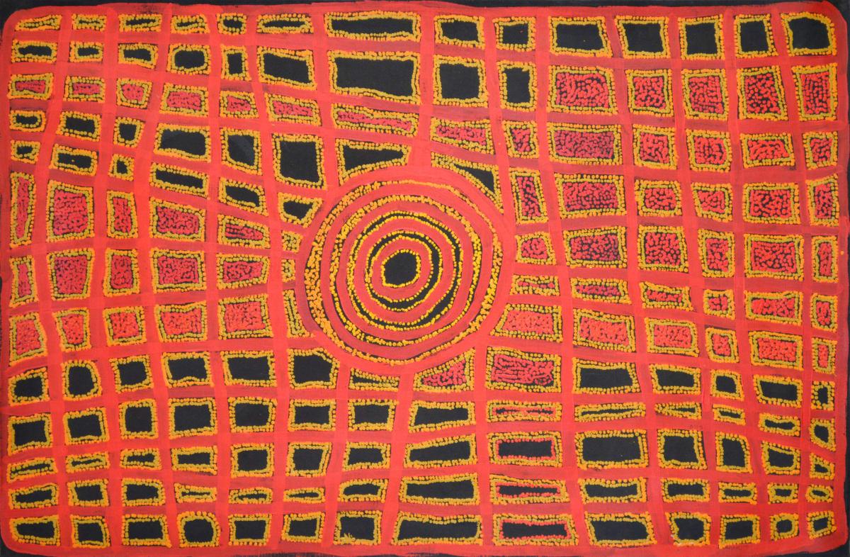 Ian Rictor Tuwan acrylic on linen 137 x 90 cm
