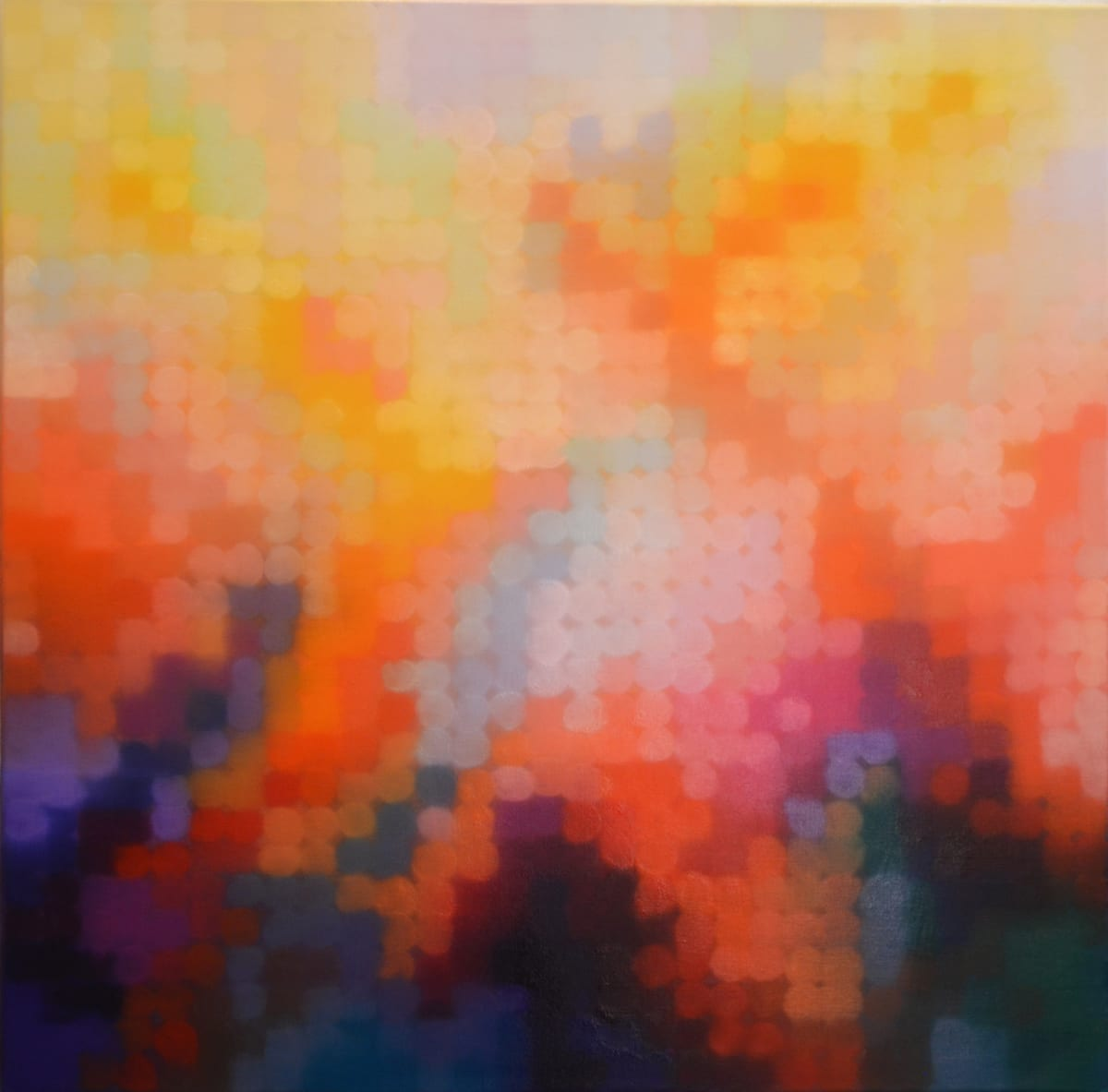 Matthew Johnson Element IV Oil paint on Linen 90 x 90 cm