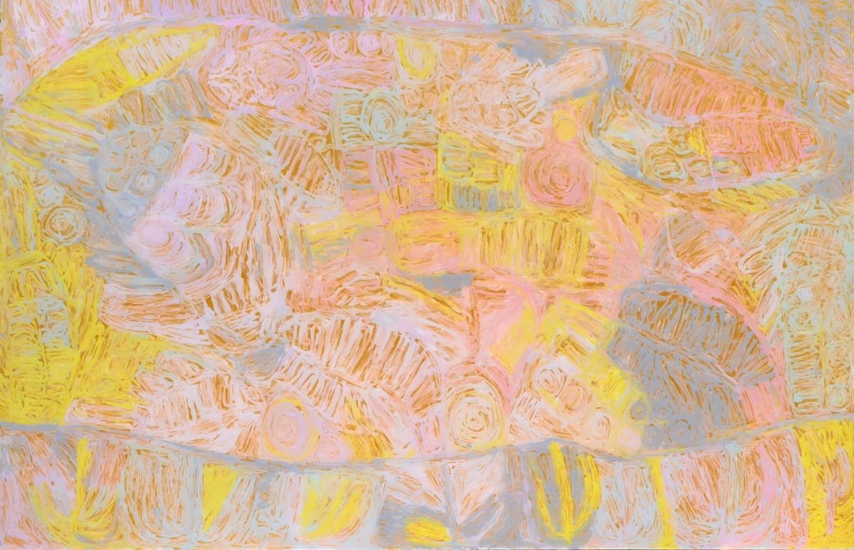 Sonia Kurarra Martuwarra acrylic on polycarbonate 121.9 x 183.5 cm