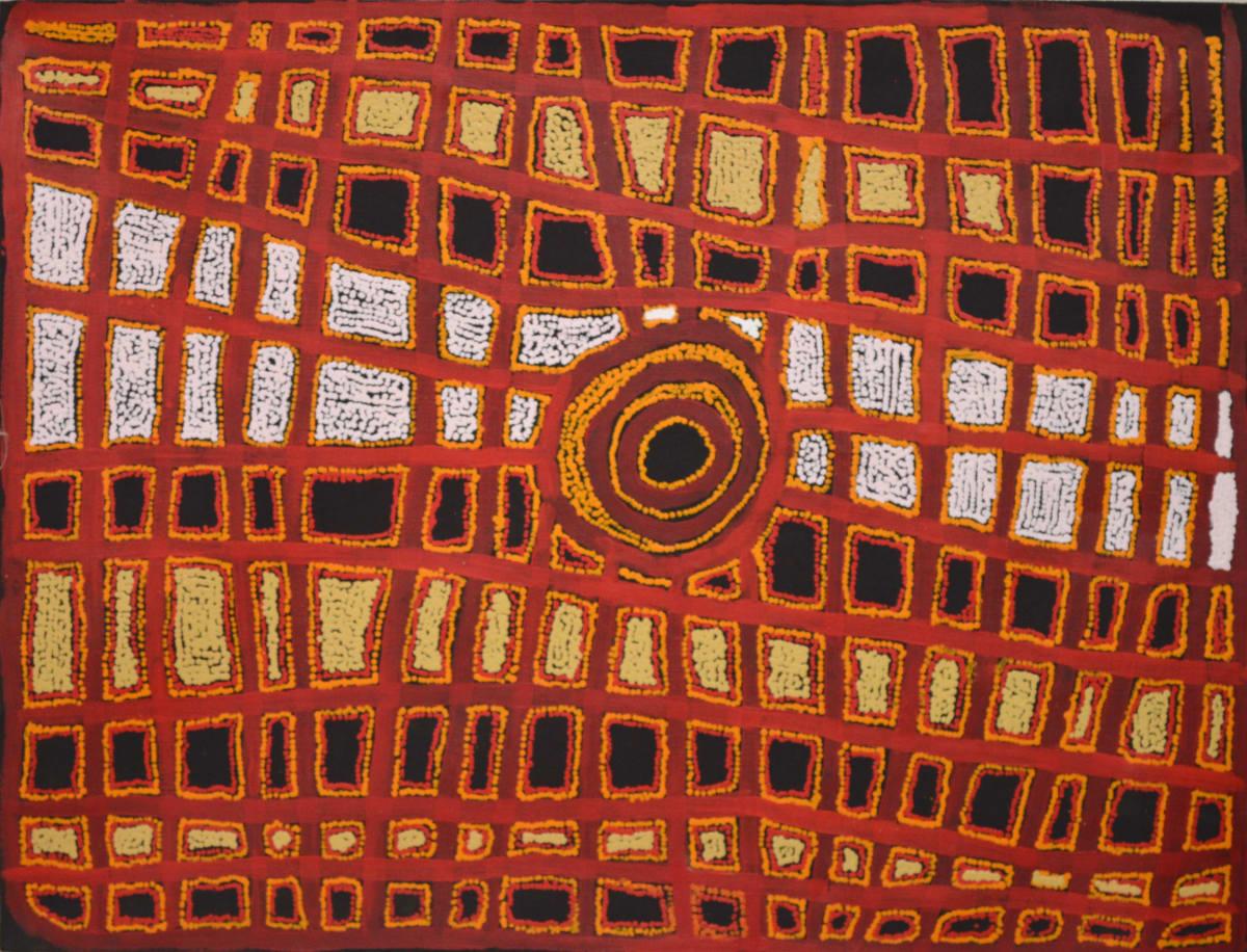 Ian Rictor Tuwan acrylic on linen 110 x 85 cm