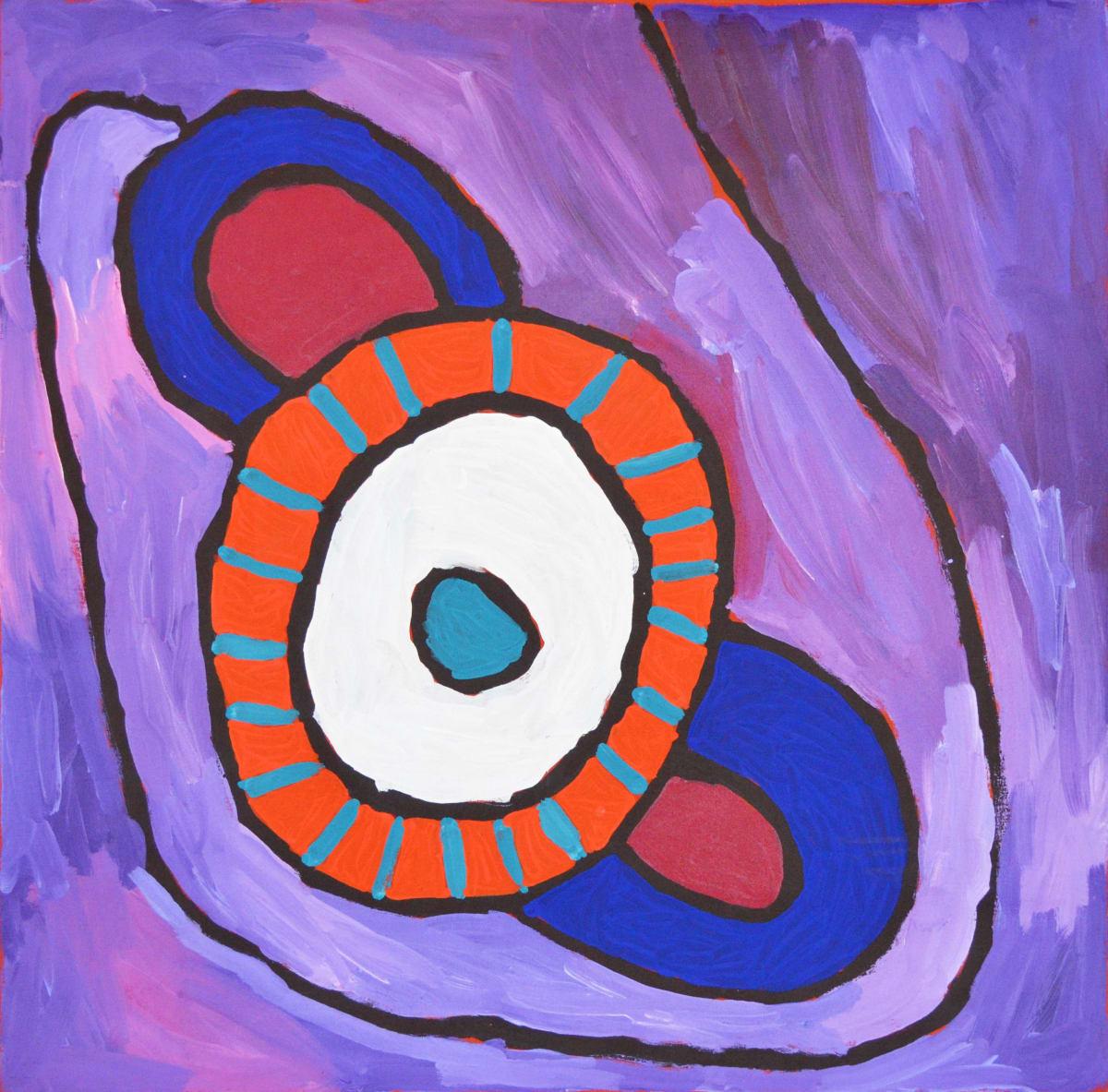 Linda Puna Antara -Maku Dreaming acrylic on linen 96 x 96 cm