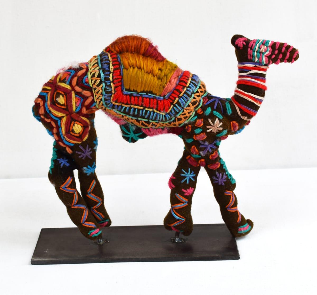 Roxanne Oliver Camel mixed media 35 x 30 x 8 cm