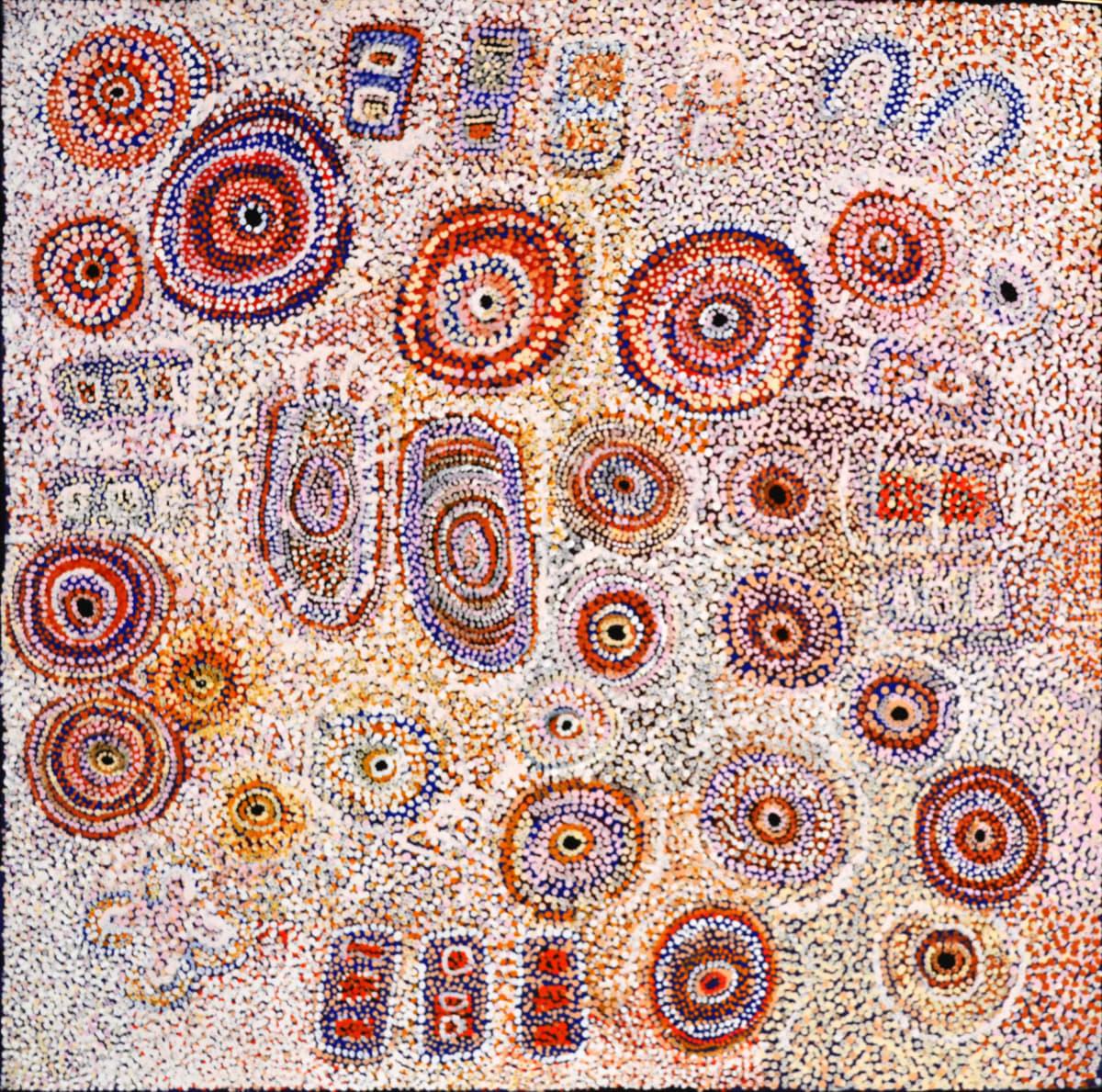 Tuppy Ngintja Goodwin Antara acrylic on linen 122 x 122 cm