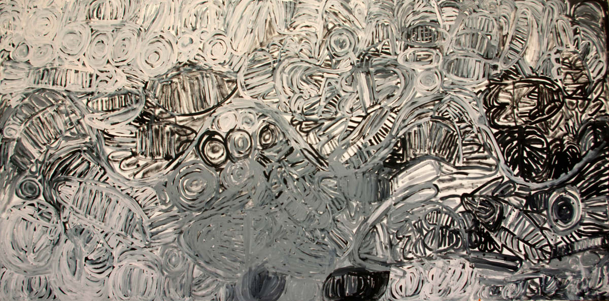 Sonia Kurarra Martuwarra acrylic on canvas 240 x 120 cm